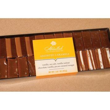 Abdallah Chocolates Assorted Caramels (5 Varieties) 1 lb, 1 oz.