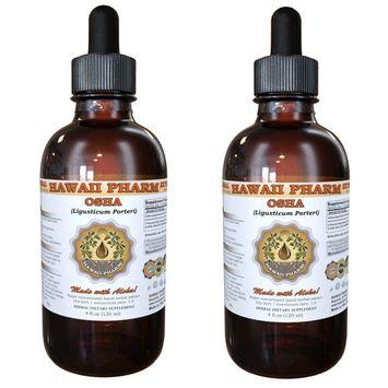 Osha (Ligusticum Porteri) Tincture, Dried Root Liquid Extract, Porter's Licorice Root, Herbal Supplement 2x2 oz