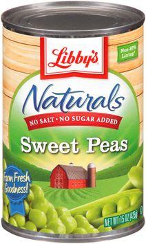 Libby's® Naturals No Salt & No Sugar Added Sweet Peas