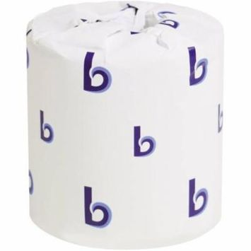Boardwalk Office Packs 2-Ply Standard Bathroom Tissue, White, 500 sheets, (Pack of 48)