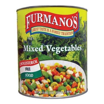 Libbys Furmano's Mixed Vegetables - #10 Can