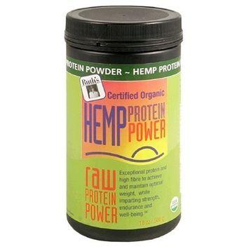 Ruths Hemp Foods Ruth's Organic Hemp Raw Protein Power, 16-Ounce Cainsters (Pack of 2)