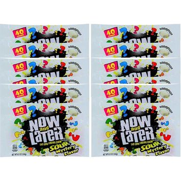 Now & later Sour Mystery Flavors Long Lasting Chew Net Wt 6.5 Oz (1)