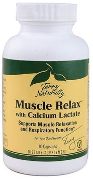 Europharma Terry Naturally EuroPharma - Terry Naturally Muscle Relax with Calcium Lactate - 90 Vegetarian Capsules