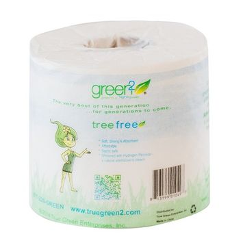 Green2 100% Tree Free 300-Sheet 2-Ply Bathroom Tissue, 96 Count [300-Sheet 2-Ply]