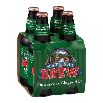 Natural Brew Outrageous Ginger Ale - 4 CT