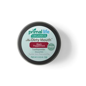 WOW Activated Charcoal Powder Dirty Mouth Black Peppermint MINI BEST All Natural Charcoal Toothpaste - Gently Polishes, Whitening, ReMineralize and Strengthens (1month Supply)