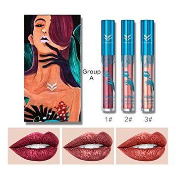 Holographic Waterproof Liquid Lipstick Soft Matte Long-Lasting Diamond Metal Shine Lip Gloss