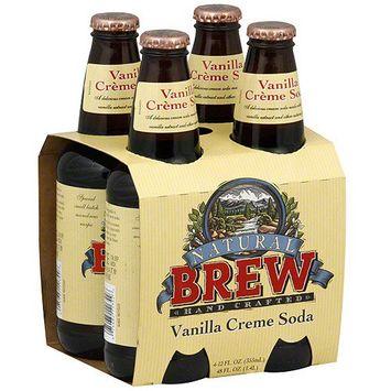 Natural Brew Vanilla Creme Soda, 4ct (Pack of 6)