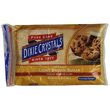 Dixie Crystals ® Dixie Crystals Light Brown Sugar, 2-Pound (Pack of 6)