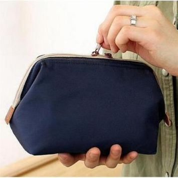 High Quality Portable Makeup Bag Cute Multifunction Beauty Travel Cosmetic Bag Makeup Case Pouch Toiletry Hot Sale,dark blue,