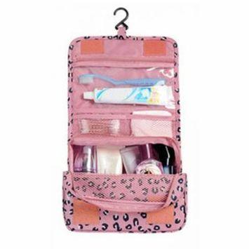Waterproof Polyester Makeup Bag Travel Beauty Hanging Type Cosmetic Bag
