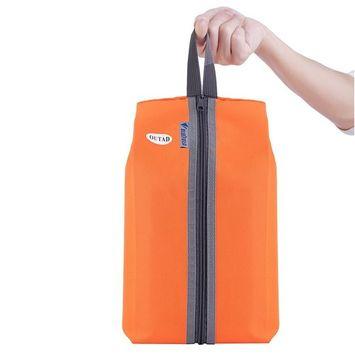 Travel Storage Bag Nylon 4 Colors Portable Storage Shoe Bag Multifunction Travel Tote Storage Case Organizer Fishing Bags,orange,