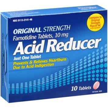 Perrigo Original Strength Acid Reducer Famotidine Tablets, 10 mg, 10 count