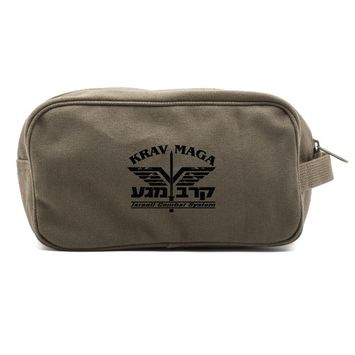 Krav Maga Israeli Combat System Martial Arts Shower Kit Travel Toiletry Bag Case [name: actual_color value: actual_color-olive&black]