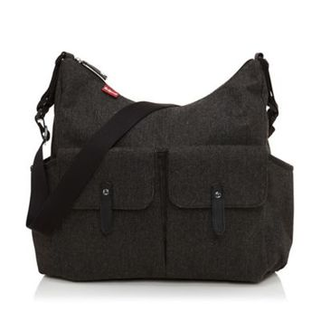 Babymel Frankie Tweed Changing Bag, Grey