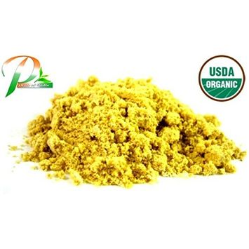 Pride Of India - Organic Yellow Mustard Seed Ground (Enriched Mineral Content), Half Pound