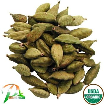 Pride Of India - Organic Green Cardamom Seeds Whole (Big Seeds - Extra Aromatic), 3.53 Ounces (100 Grams)