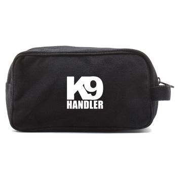 K9 Handler Canvas Shower Shaving Kit Travel Toiletry Bag Case