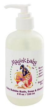 Magick Botanicals - Magick Baby Bubble Bath Soap & Shampoo Fragrance Free - 8 oz.