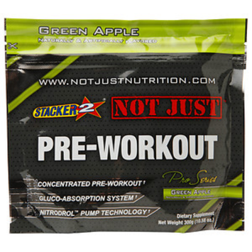 Stacker 2 Not Just Pre-Workout, Green Apple, 10.58 oz