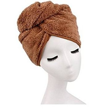 Shintop Sweet Type Dry Hair Cap Sweet Superfine Fiber Soft Towel Bath Head Wrap Turban