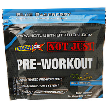 Stacker 2 Not Just Pre-Workout, Blue Raspberry, 10.58 oz