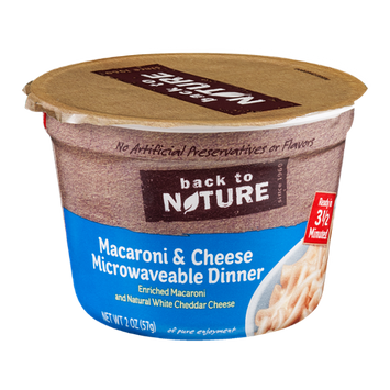 Back To Nature Macaroni & Cheese Microwaveable Dinner