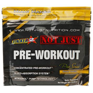 Stacker 2 Not Just Pre-Workout, Miami Mango, 10.58 oz