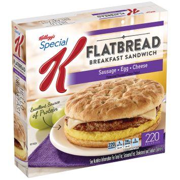 Special K® Kellogg's Sausage, Egg & Cheese Flatbread Breakfast Sandwich