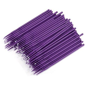 100Pc Microblading Micro Brushes Swab Lint Free Tattoo Permanent Supplies For Makeup and Personal Care