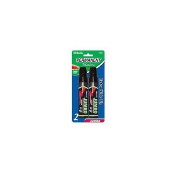 BAZIC 8mm Jumbo Chisel Tip Permanent Marker (2/Pa(Case of 144)