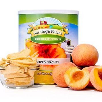 Saratoga Farms Freeze Dried Peach Slices, #10 Can, 9oz (255g), Real Fruit, Fruit Smoothies, Snack, Food Storage, Every Day Use