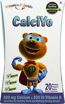 Natural Burst - Vixro CalciYo Calcium Yogurt Bears Banana Flavor - 40 Yogurt.