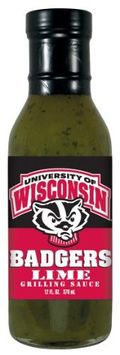 Wisconsin Badgers Lime Grilling Sauce Hot Sauce Harry's