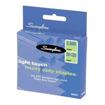 Swingline Lighttouch Heavy Duty Staples - 100 Per Strip - 0.63