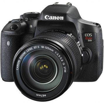 Canon - Eos Rebel T6i Dslr Camera (body Only) - Black