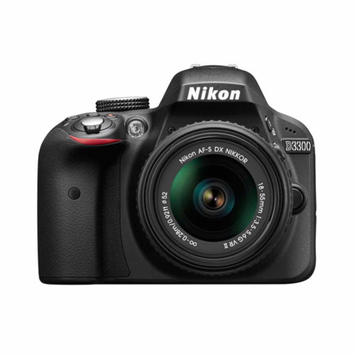 Nikon D3300 Digital SLR with 24.2 Megapixels and 18-55mm Lens Included (Available in multiple colors)