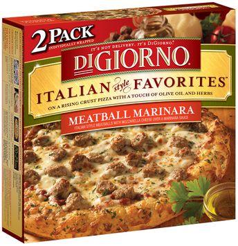DIGIORNO Italian Style Favorites Meatball Marinara Pizza 2 PK BOX