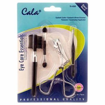 Cala eye care essentials eyelash curler eyelash & brow groomer tweezers