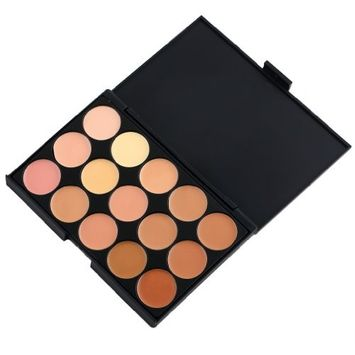 Kapmore Concealer Palette Eyeshadow Palette 15 Color Professional Makeup Camouflage Cosmetic Palette for Ladies
