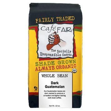 Café Fair Organic Shade Grown Whole Bean Dark Guatemalan Coffee - 12oz