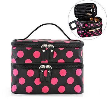 Lemoncy Travel Toiletry Bag Hanging Cosmetic Bag Portable Waterproof Makeup Bag Organizer for Women Girl
