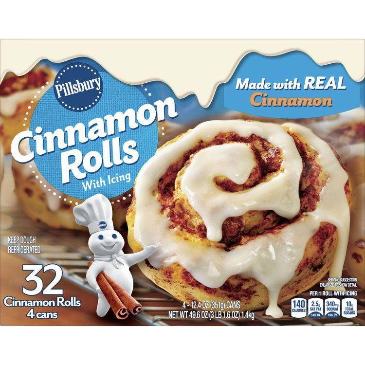 Pillsbury Cinnamon Rolls With Icing, 49.6 oz Reviews 2020