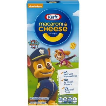 Kraft Macaroni and Cheese Dinner Paw Patrol Shapes