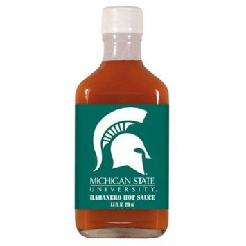 Michigan State Spartans NCAA Habanero Hot Sauce in a Flask (6.6 oz)
