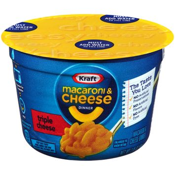 Kraft Easy Mac Triple Cheese Flavor Macaroni & Cheese Dinner