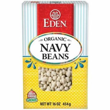 Eden Navy Beans, Organic - Dry , 16 Ounce (Pack of 6)