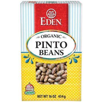 Eden Organic Eden Pinto Beans, Organic - Dry, 16 Ounce (Pack of 6)