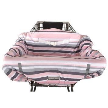 Balboa Baby Jersey Shopping Cart Cover - Grey & Pink Stripe